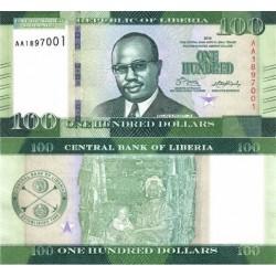 اسکناس 100 دلار - لیبریا 2016