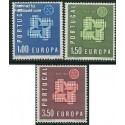 3 عدد تمبر مشترک اروپا - Europa Cept - پرتغال 1961