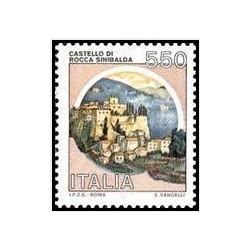 1 عدد تمبر قلعه - سری پستی- ایتالیا 1984