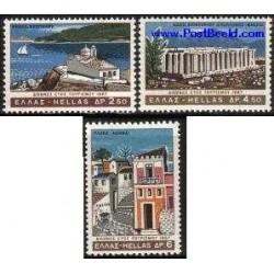3 عدد تمبر سال بین المللی توریسم - یونان 1967