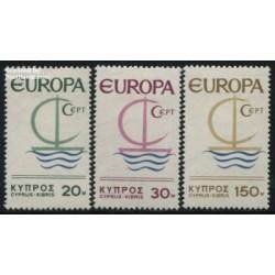 3 عدد تمبر مشترک اروپا - Europa Cept - قبرس 1966