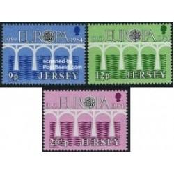 3 عدد تمبر مشترک اروپا - Europa Cept - جرسی 1984
