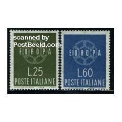 2 عدد تمبر مشترک اروپا - Europa Cept - ایتالیا 1959