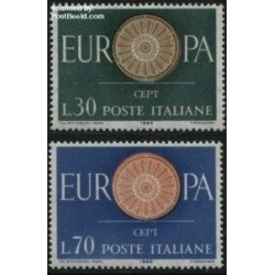 2 عدد تمبر مشترک اروپا - Europa Cept - ایتالیا 1960