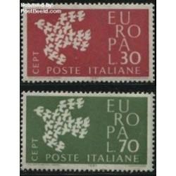 2 عدد تمبر مشترک اروپا - Europa Cept - ایتالیا 1961