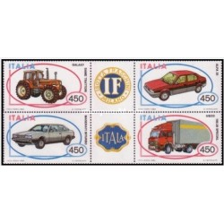 4 عدد تمبر وسایل نقلیه ساخت ایتالیا- ایتالیا 1984
