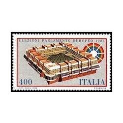 1 عدد تمبر دومین انتخابات پارلمان اروپا - ایتالیا 1984