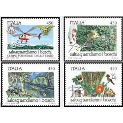 4 عدد تمبر حفاظت از جنگلها - ایتالیا 1984