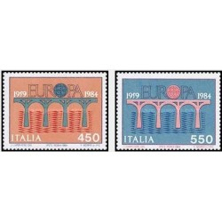 2 عدد تمبر مشترک اروپا - Europa Cept - ایتالیا 1984