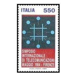 1 عدد تمبر سمپوزیوم بین المللی مخابرات ،فلورانس- ایتالیا 1984
