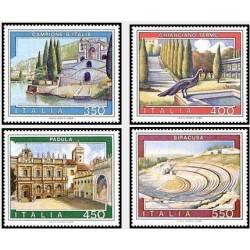 4 عدد تمبر تبلیغات گردشگری - تابلو نقاشی - ایتالیا 1984