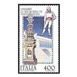 1 عدد تمبر برگزاری جشنهای فولکلور- ایتالیا 1984