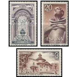 3 عدد تمبر قلعه ها و صومعه ها - اسپانیا 1976