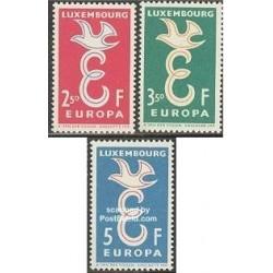 3 عدد تمبر مشترک اروپا - Europa Cept - لوگزامبورگ 1958