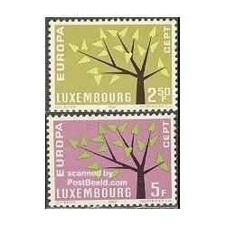 2 عدد تمبر مشترک اروپا - Europa Cept - لوگزامبورگ 1962
