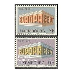 2 عدد تمبر مشترک اروپا - Europa Cept - لوگزامبورگ 1969