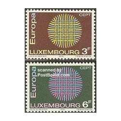 2 عدد تمبر مشترک اروپا - Europa Cept - لوگزامبورگ 1970