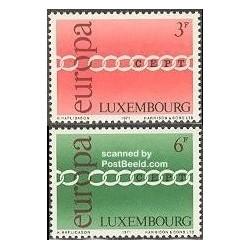 2 عدد تمبر مشترک اروپا - Europa Cept - لوگزامبورگ 1971