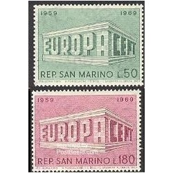 2 عدد تمبر مشترک اروپا - Europa Cept - سان مارینو 1969