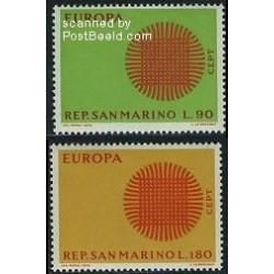2 عدد تمبر مشترک اروپا - Europa Cept - سان مارینو 1970