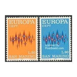 2 عدد تمبر مشترک اروپا - Europa Cept - سان مارینو 1972