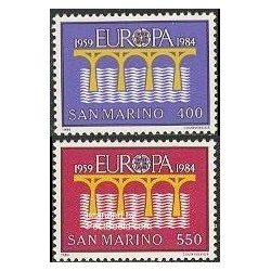 2 عدد تمبر مشترک اروپا - Europa Cept - سان مارینو 1984