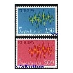 2 عدد تمبر مشترک اروپا - Europa Cept - یوگوسلاوی 1972