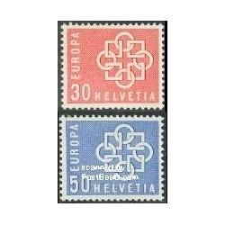 2 عدد تمبر مشترک اروپا - Europa Cept - سوئیس 1959