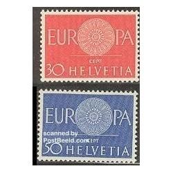 2 عدد تمبر مشترک اروپا - Europa Cept - سوئیس 1960