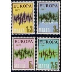 4 عدد تمبر مشترک اروپا - Europa Cept - مالت 1972