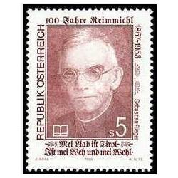 1عدد تمبر 125مین سالگرد تولد شاعر محلی ریم میچل -اتریش 1992