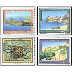4 عدد تمبر تبلیغات گردشگری -تابلو نقاشی- ایتالیا 1990