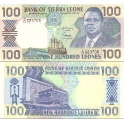 اسکناس 100 لئون - سیرالئون 1989