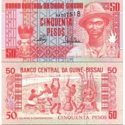 اسکناس 50 پزو - گینه بیسائو 1990