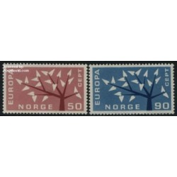 2 عدد تمبر مشترک اروپا - Europa Cept - نروژ  1962