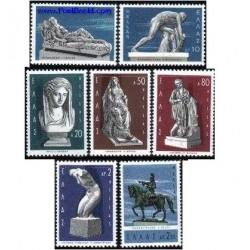 7 عدد تمبر مجسمه های یونانی - یونان 1967