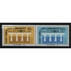 2 عدد تمبر مشترک اروپا - Europa Cept - قبرس ترکیه 1984
