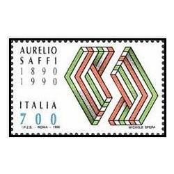 1 عدد تمبر صدمین سالگرد مرگ اورلیو سافی - سیاستمدار - ایتالیا 1990