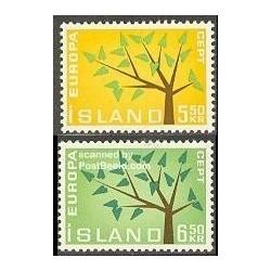2 عدد تمبر مشترک اروپا - Europa Cept - ایسلند 1962