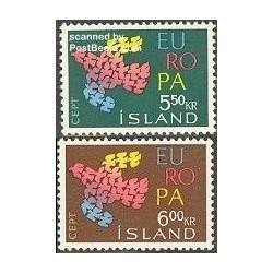 2 عدد تمبر مشترک اروپا - Europa Cept - ایسلند 1961