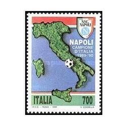 1 عدد تمبر باشگاه فوتبال ناپل - قهرمان ایتالیا - ایتالیا 1990