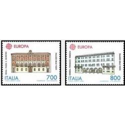 2 عدد تمبر مشترک اروپا - Europa Cept - ایتالیا 1990