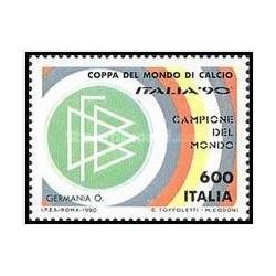 1 عدد تمبر جام جهانی فوتبال ایتالیا - ایتالیا 1990
