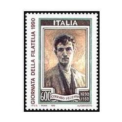 1عدد تمبر روز تمبر - ایتالیا 1990