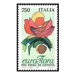 1 عدد تمبر نمایشگاه گل جنووا - ایتالیا 1991