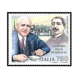 1 عدد تمبر روز تمبر - ایتالیا 1991