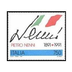 1 عدد تمبر صدمین سالگرد تولد پیترو ننی -سیاستمدار سوسیالیست - ایتالیا 1991