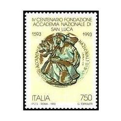 1 عدد تمبر 400مین سالگرد آکادمی ملی سنت لوک - ایتالیا 1993