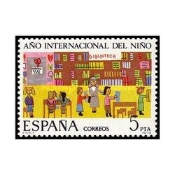 1 عدد تمبر سال جهانی کودک - اسپانیا 1979