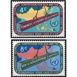 2 عدد تمبر ECAFE - کمیسون اقتصادی برای آسیا و خاور دور -  نیویورک ، سازمان ملل 1960